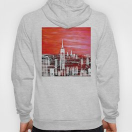Abstract Red In The City Design Hoody