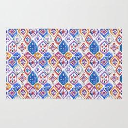 mosaic balinese ikat print mini Rug