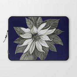 Florida Flower Navy Blue Background Laptop Sleeve