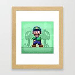 Luigi Bro Framed Art Print