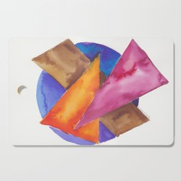180819 Geometrical Watercolour 6| Colorful Abstract | Modern Watercolor Art Cutting Board