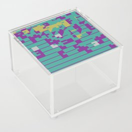 Abstract 8 Bit Art Acrylic Box