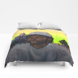 'ICE CUBE'S A PIMP!' (Green Sky) Comforters