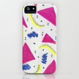 Popping Shapes iPhone Case