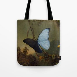 Blue Morpho Butterfly 1865 By Martin Johnson Heade | Reproduction Tote Bag