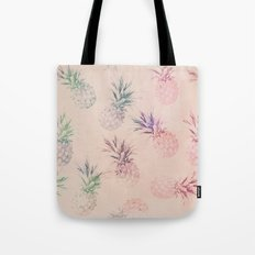 Soft Pastel Pineapple Pattern Tote Bag
