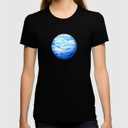 Illustration of watercolor round planet T-shirt