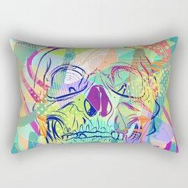 Oh Hell Sherbert Skull Rectangular Pillow