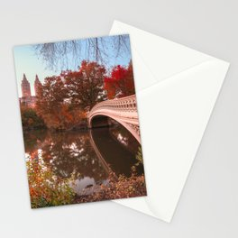 Central Park Fall Sunset Stationery Cards