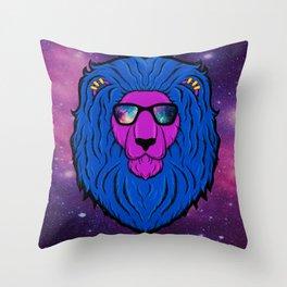 Cool Cat Space Throw Pillow