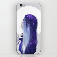the moon iPhone & iPod Skins featuring Moon by Liza van Rees