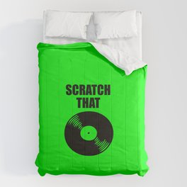 scratch that music logo Comforters
