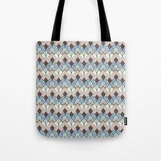 Retro Geometry Diamond Tote Bag