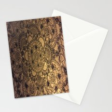 Mandala in Gold Stationery Cards