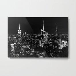 New York City B&W Metal Print