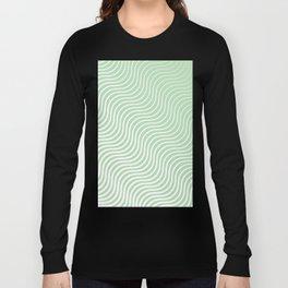 Whiskers Light Green & White #440 Long Sleeve T-shirt