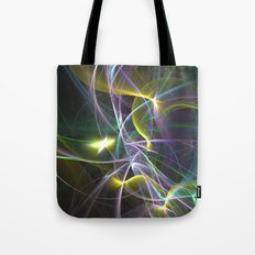 The Curves of Symbiotic Frequencies Traveling To Their Respective Destinations Only Compressed Tote Bag