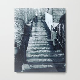 The Moral Stairs Metal Print