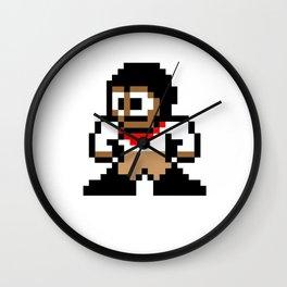 8-bit Andres Pose 1 Wall Clock