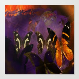 Butterfly flee Canvas Print