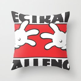 Plectrally Challenged Throw Pillow