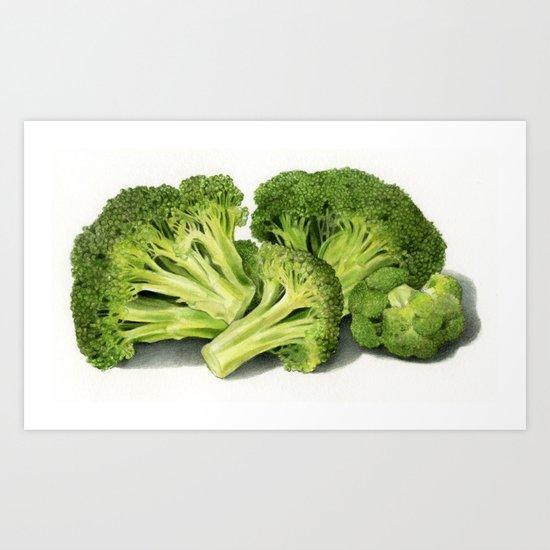 broccoli Art Print