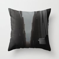 grunge Throw Pillows featuring grunge  by fat dominic