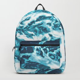 Tropical Turquoise Waves - nature photography Backpack