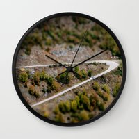 road Wall Clocks featuring Road by PhotoStories