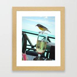 Cheers Birdie Framed Art Print
