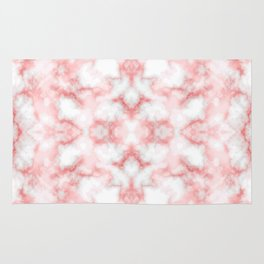 Abstract Red Marbel Rug