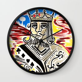 King Of Cards Wall Clock