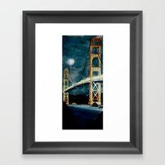Golden Gate Bridge at Night Framed Art Print