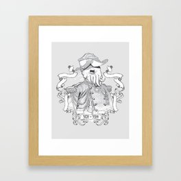 I for one welcome our Amphibious Alien Overlords Framed Art Print