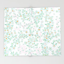 Forget me nots on white - in memory... Throw Blanket