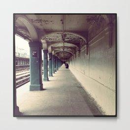 Avenue U Train Station in Brooklyn Metal Print
