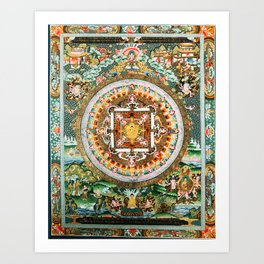 Buddhist Mandala White Tara Art Print