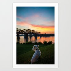 MISSISSIPPI RIVER SUNSET Art Print