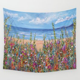 Summer Beach, Impressionism Seascape Wall Tapestry
