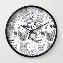 KittyPrint Wall Clock