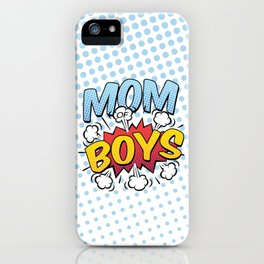 Mom of Boys Mother's Day Comic Book Style iPhone Case