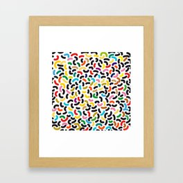 colored worms Framed Art Print