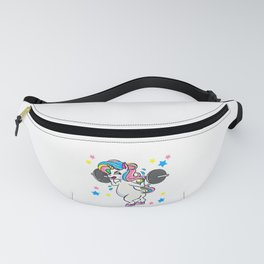 Weight Lifting Unicorn Funny Workout Fanny Pack