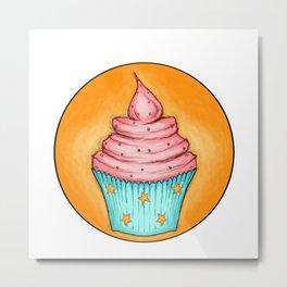 Cupcakes for Breakfast Metal Print