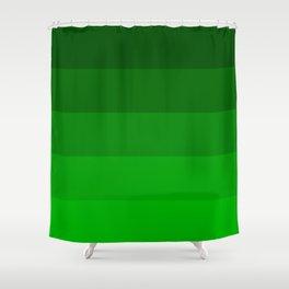 Irish Kelly Green Ombre Stripes Shower Curtain
