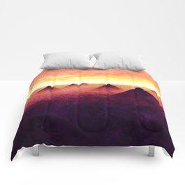 Pyramids At Sunrise Comforters