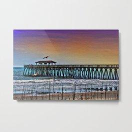 Myrtle Beach State Park Pier - Photo as Digital Paint Metal Print
