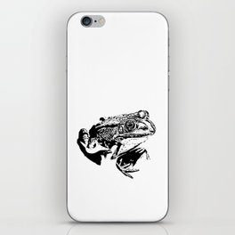 black frog IV iPhone Skin