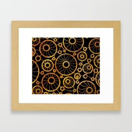 Sunflower Field Pattern Framed Art Print