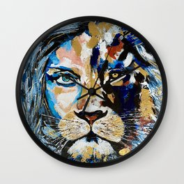 Woman Lion «Face to Face» Wall Clock